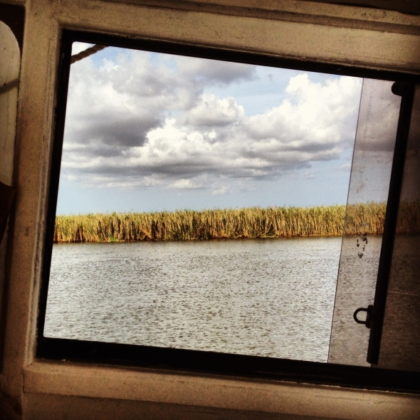 The bayou on the way to mainland after a low-catch fishing trip.
